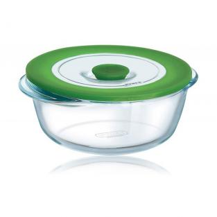 Pyrex - 1 Litre 4-in-1 Plus Round Dish with Lid