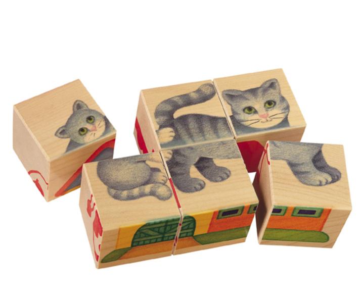 """Selecta - 6 Cubes Puzzle bébé """"La Campagne"""""""