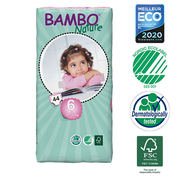 Bambo Nature - Pack de 3 paquets 44 couches T6 XL 16-30 kg