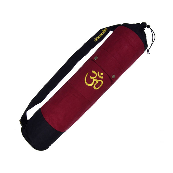 Chin Mudra - Sac à tapis de yoga 70cm Bordeaux et Noir