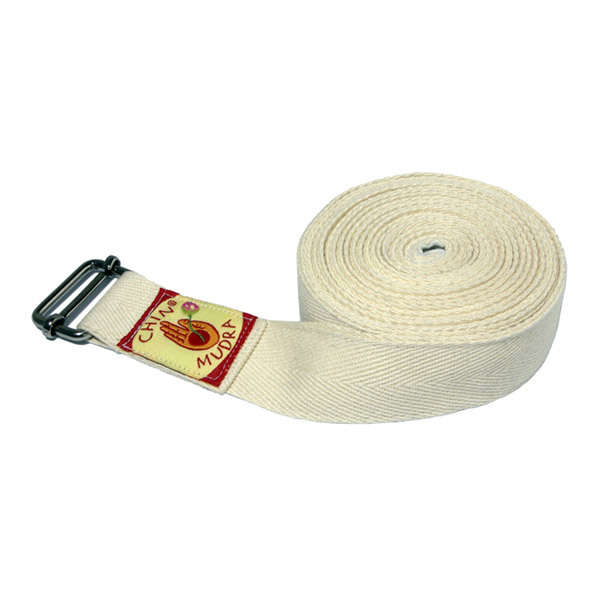 Chin Mudra - Sangle de yoga Iyengar 250 x 3cm Blanc