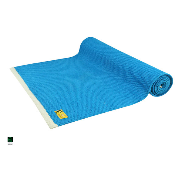 Tapis De Yoga Taj Coton Bio 2 M Bleu Chin Mudra Acheter Sur