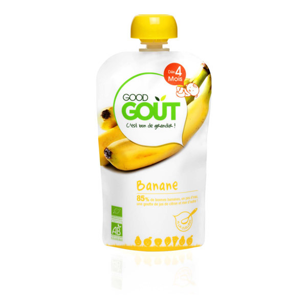 Good Gout - Lot 2 Gourdes Fruits - Banane 120g