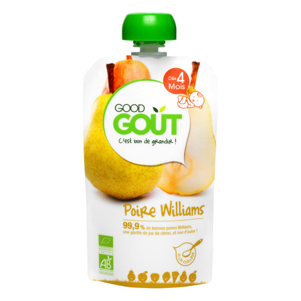 Good Gout - Lot 2 Gourdes Fruits - Poire Williams 120g