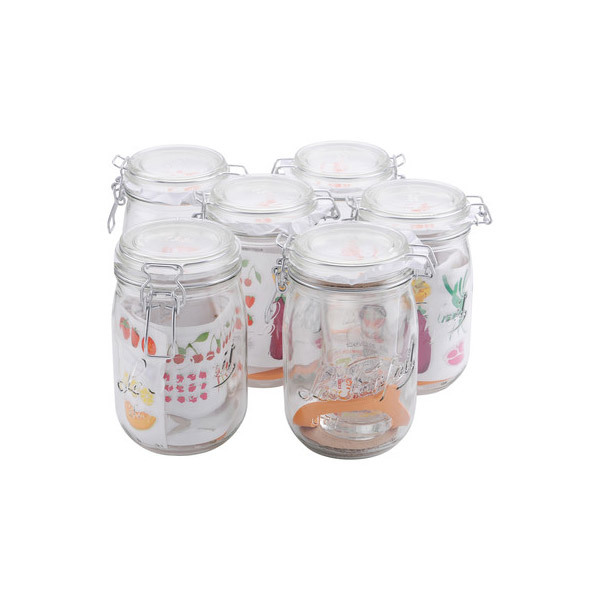 Le Parfait - Set di 6 Vasetti SUPER 1,5L