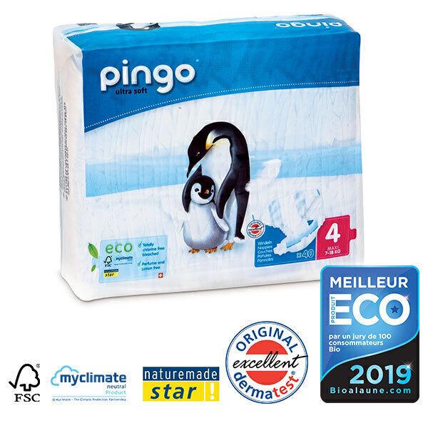 Pingo - Pack de 4 paquets 40 Couches T4 7-18kg