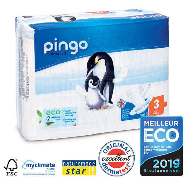 Pingo - Pack de 4 paquets 44 Couches T3 4-9kg