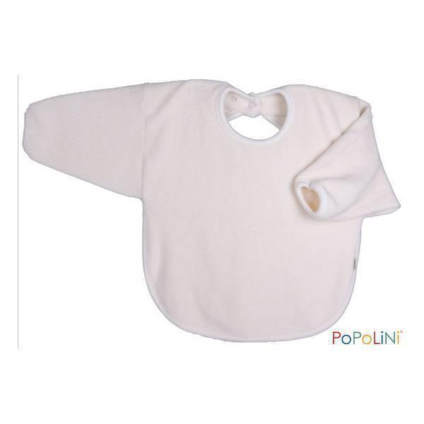 Popolini - Bavoir bébé manches longues en coton bio