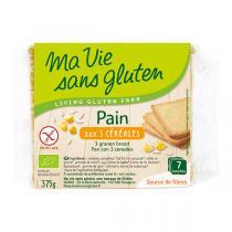 Ma Vie Sans Gluten - Pain Bio aux 3 céréales 375g
