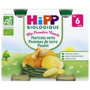 HiPP - 2 Pots Beans Potato Chicken x 190g