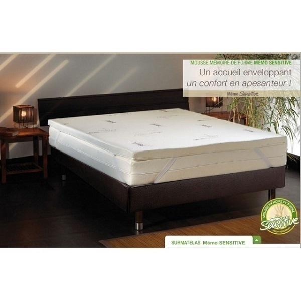 surmatelas viscov g tal 160 x 200 cm bonnes id es. Black Bedroom Furniture Sets. Home Design Ideas
