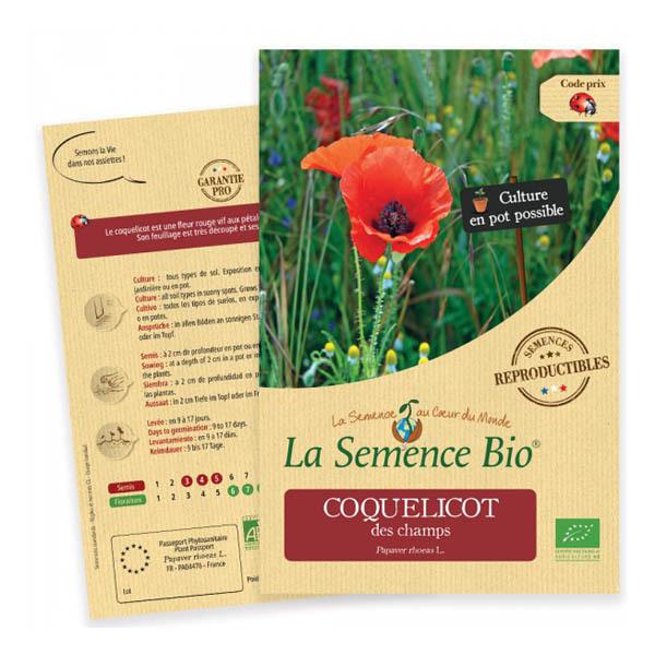 La Semence Bio - Graines de Coquelicot des Champs