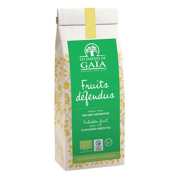Les jardins de Gaïa - Thé vert Parfumé Fruits Défendus Pomme Poire 100g