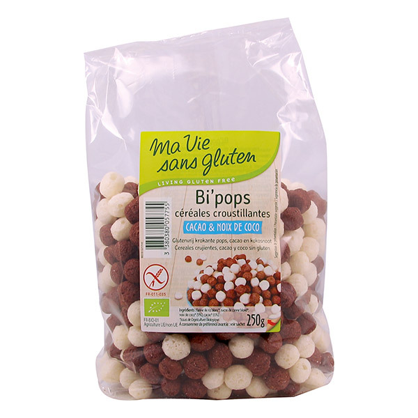Ma Vie Sans Gluten - Céréales Bi pops Coco Cacao 250 gr