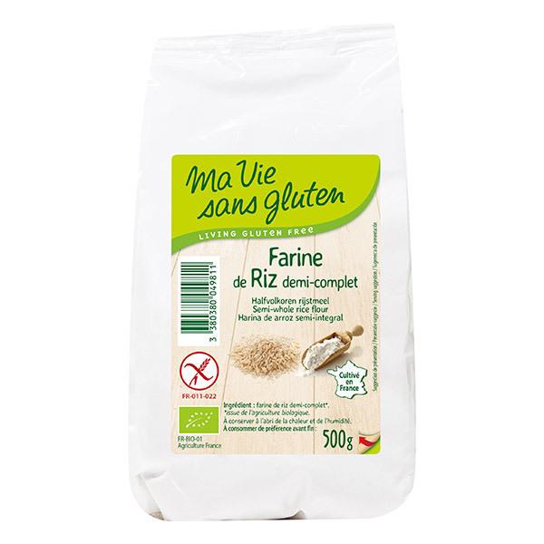 Ma Vie Sans Gluten - Farine de Riz demi Complète 500g