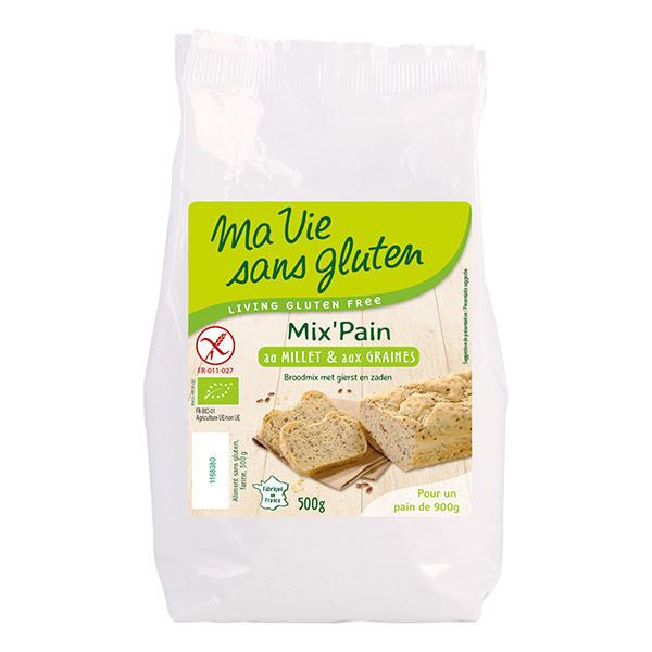 Ma Vie Sans Gluten - Préparation pour pain bio au millet 500g