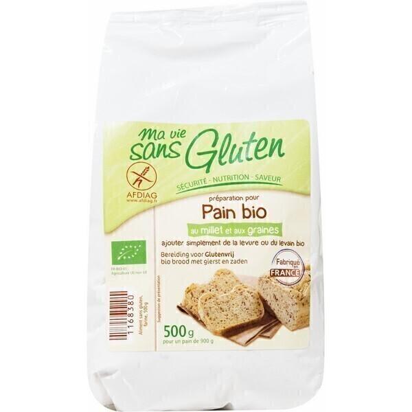 Ma Vie Sans Gluten - Préparation pour pain bio au Millet