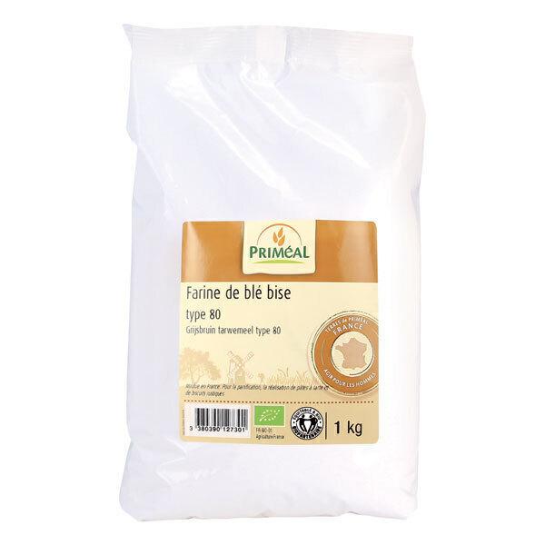 Priméal - Farine bise de blé France T80 1kg