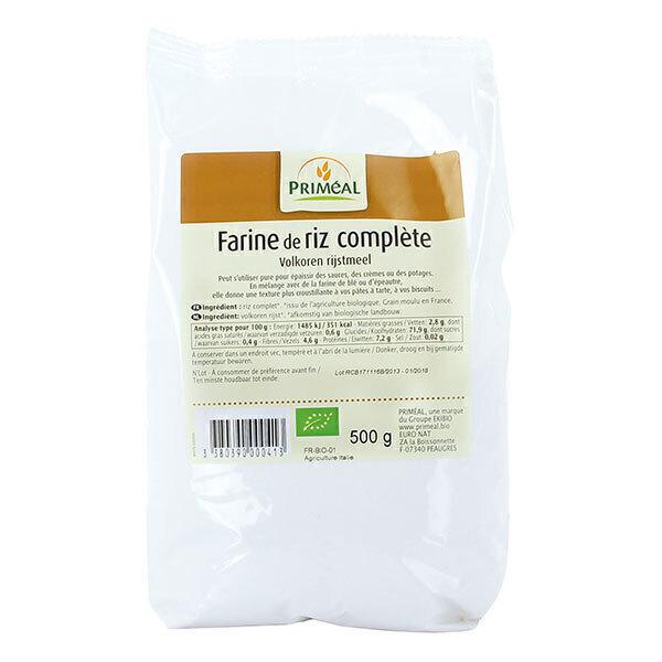 Priméal - Farine de riz complet France 500g