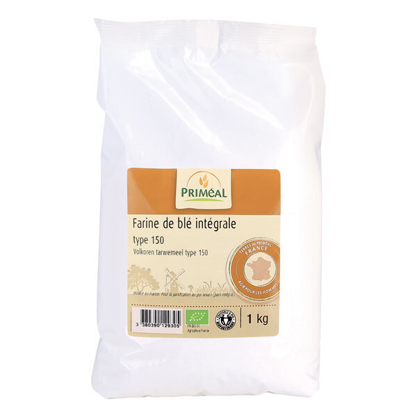 Priméal - Farine intégrale de blé France T150 1kg