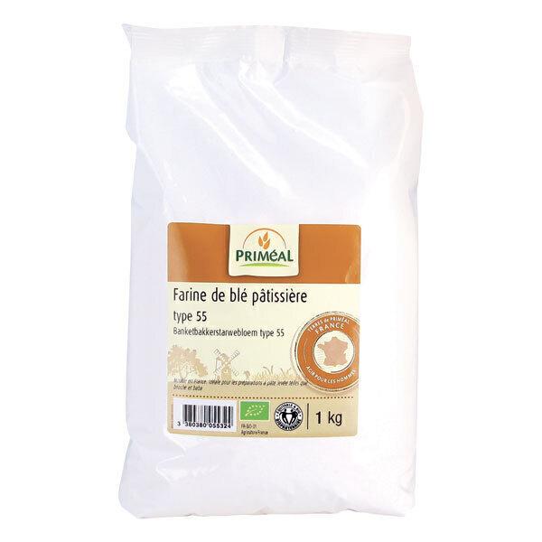 Priméal - Farine pâtissière de blé France T55 1kg