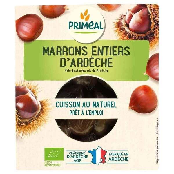 Priméal - Marrons entiers d'ardèche cuits sous vide 200g