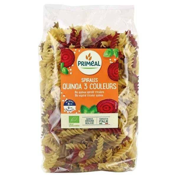 Priméal - Spirales blé 3 couleurs au quinoa 500g