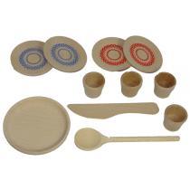 Arplay - Dinette en bois, 11 pièces