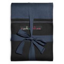 Je Porte Mon Bebe - Echarpe de portage modèle bleu nuit poche noire