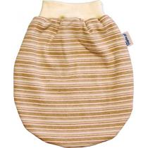 Keptin Junior - Gigoteuse pour poupée Tiny doll, coton bio, rayures marron et ve