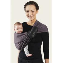 Je porte mon bébé - Baby-Tragetuch ohne Knoten - reversibel - anthrazitfarben