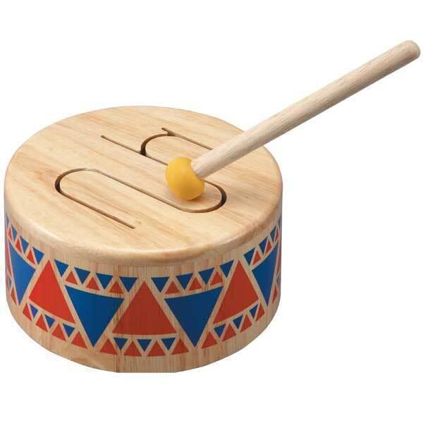 instrument de musique en bois tambour plan toys la r f rence bien tre bio b b. Black Bedroom Furniture Sets. Home Design Ideas