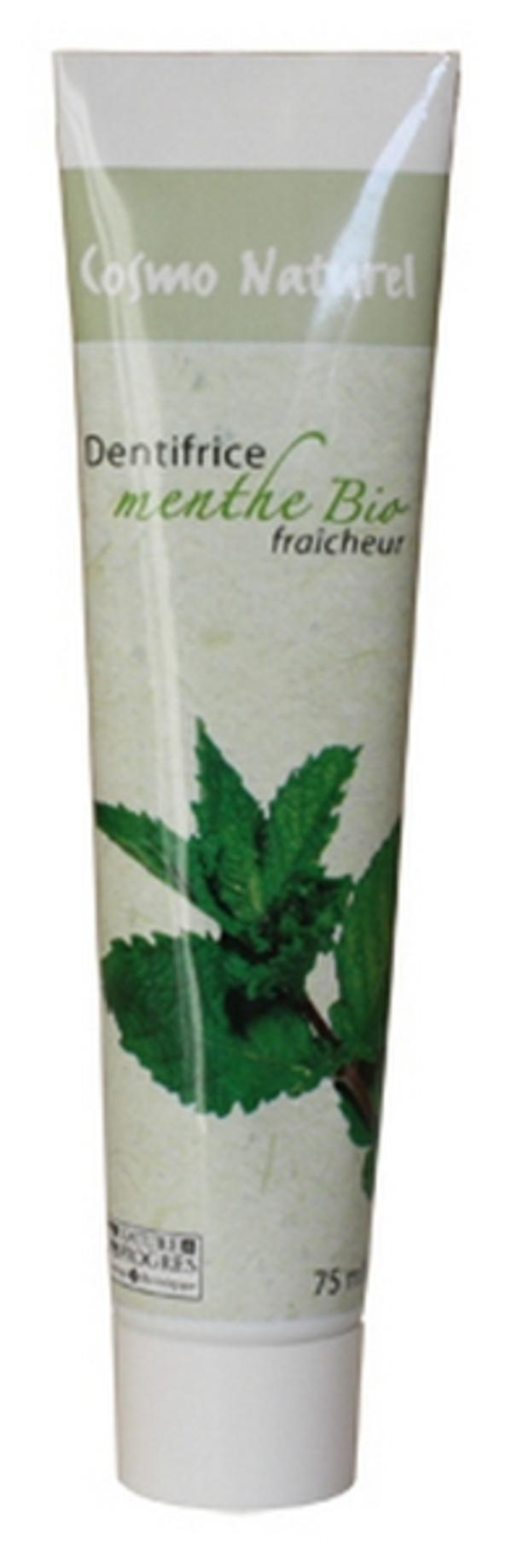Cosmo Naturel - Dentifrice fraîcheur à la Menthe bio, 75ml