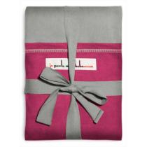 Je porte mon bébé - JPMBB Original Stretchy Wrap Light Grey & Fuchsia