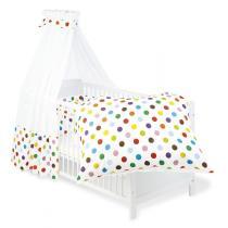 """Pinolino - Set pour lit bébé, """"Pois multicolors"""""""