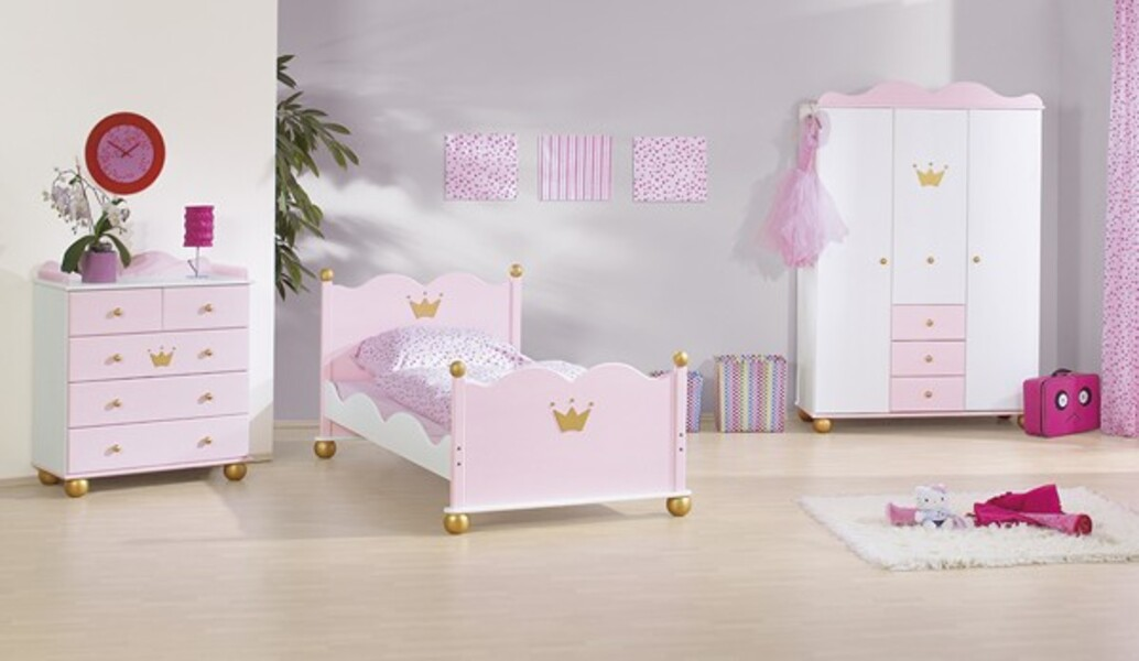 chambre enfant princesse caroline 3 pi ces pinolino. Black Bedroom Furniture Sets. Home Design Ideas