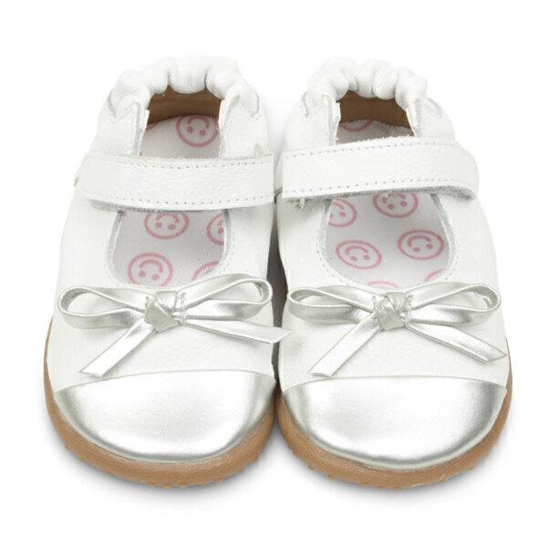 Shooshoos - Chaussures fille, Noeud, coloris blanc et argent, taille au choi