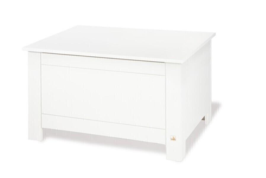 """Pinolino - Coffre en bois massif, Collection """"Puro"""", coloris blanc"""