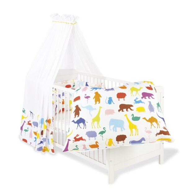 """Pinolino - Set pour lit bébé, """"Happy Zoo"""""""