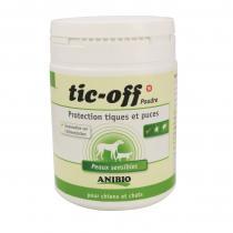 Anibio - Tic-Off poudre protection tiques et puces 140g