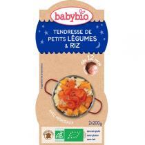 Babybio - Bols Tendresse de Légumes Riz 12 mois 2x200gr
