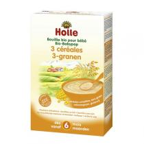 Holle - Bouillie bébé aux 3 céréales 250g - Dès 6 mois