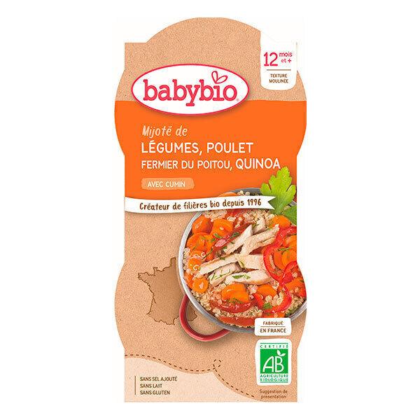 Babybio - 2 Bols Légumes Poulet Quinoa 12 mois