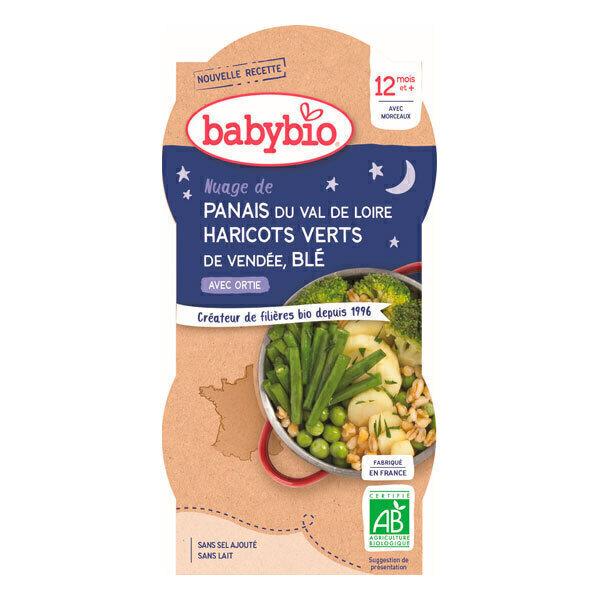 Babybio - Bols Légumes verts Blé Dès 12 mois 2 x 200g