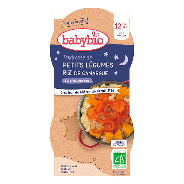 Babybio - 2 Bols Tendresse de Légumes Riz