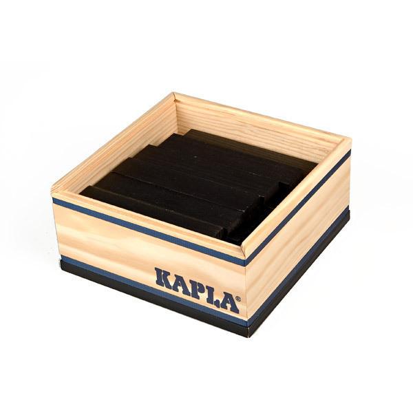 Kapla - 40 Holzbausteine - schwarz