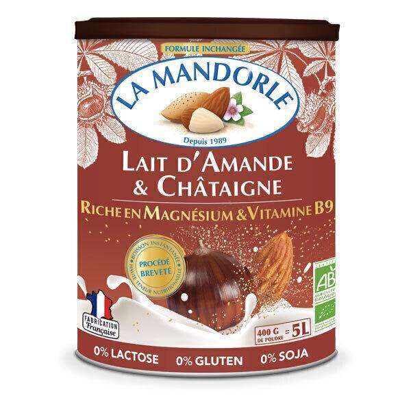 La Mandorle - Lait d'amande et châtaigne Magnésium et vitamine B9 400g