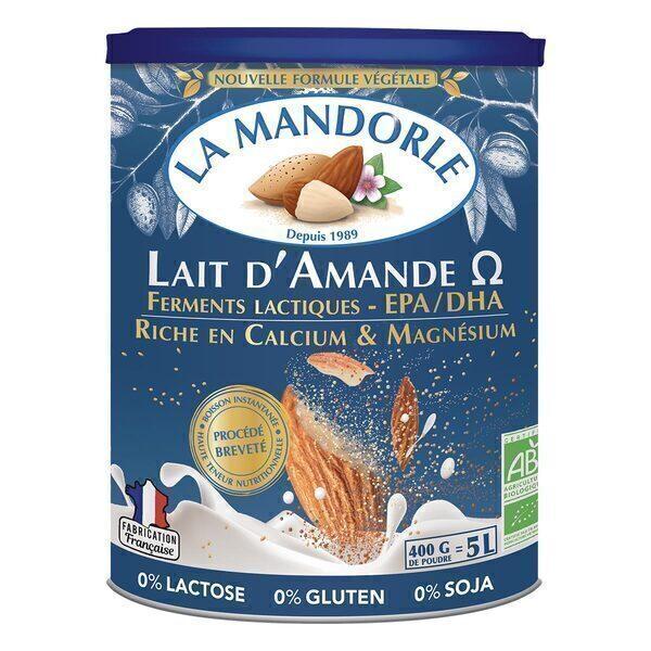La Mandorle - Lait d'amande Oméga, calcium et magnésium 400g