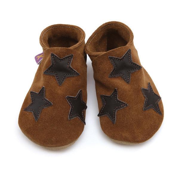 Starchild - Chaussons cuir Starchild Stars Choco