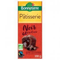 Bonneterre - Tablette chocolat noir patisserie 60% 200g